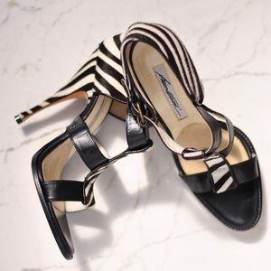 Brian Atwood 'Audra' Zebra Print Ponyhair Sandals